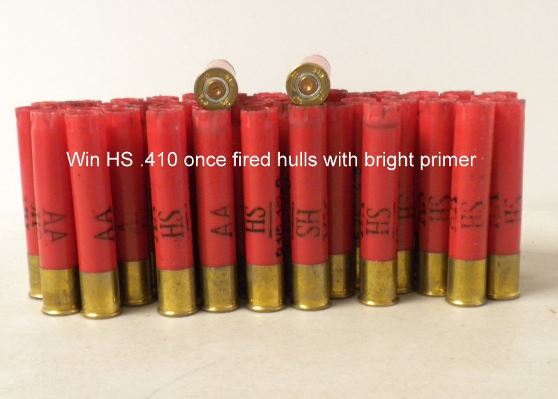 410 Bore WIN AA HS BT 1X Hulls - Limited supply