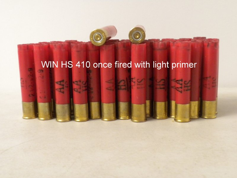 410 Bore WIN AA HS LT 1X Hulls - limited supply